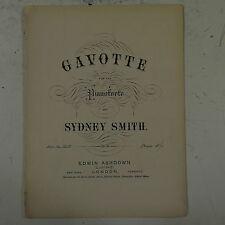 salon piano GAVOTTE sydney smith op.161 ,8pp