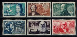 (b30) timbres France n° 1012/1017 neufs** année 1955