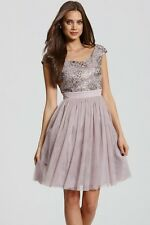Asos Little Mistress Sequin Bridesmaid Prom Wedding Guest Cocktail Dress 6 8 XS