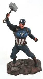 "MARVEL Gallery AVENGERS ENDGAME CAPTAIN AMERICA 9"" PVC Diorama Toy Figure Statue"