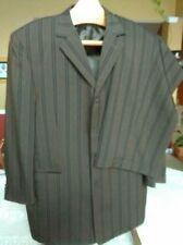 Zacchi Brown/Black Striped 2 Piece Suit , Jacket 44R, Pants, W38-39R, EUC