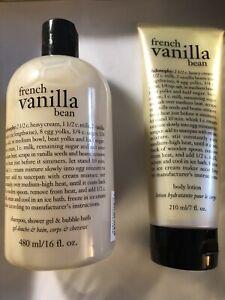 Philosophy French Vanilla Bean Perfumed Shampoo Shower Gel & Body Lotion Duo Set