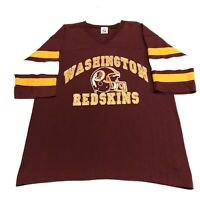 Washington Redskins T Shirt Adult L Red NFL Football Vintage 90s Logo 7 USA