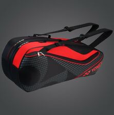 YONEX 6 Tennis/8 Badminton Racket Racquet Bag 8726EX, Black/Red, 2017 New