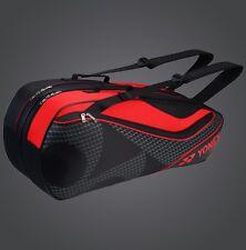 YONEX 6 Tennis/8 Badminton Racket Racquet Bag 8726EX, Black/Red, 2017 New