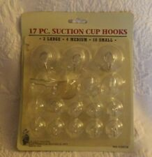 15 Piece Suction Cup Hooks Large Medium Small Clear New