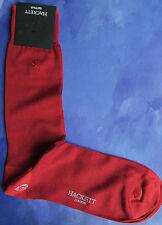 Hackett Mayfair London Mens Silk Socks Sz ML Large Hackett Logo Red HMU50249