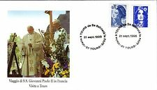 569- FDC VATICAN VISITE PAPE JEAN PAUL II   EN  FRANCE