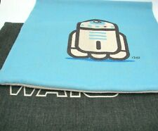 "2 Vintage Star Wars Pillow Covers R2D2 Excellent 17"" x 17"" Light Blue Dark Gray"