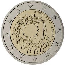 Cipro 2015 - 2 Euro Comm - 30th Anniversario della Europea Bandiera (UNC)