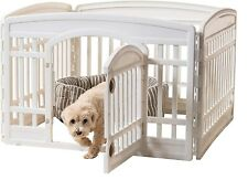 New listing New White Durable 24'' Four Panel Exercise Pet Playpen with Door for Dogs-Usa.