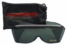 SUNSHIELDS Premier Smoke Tinted Lens Marked Case Fit Over Sunglasses