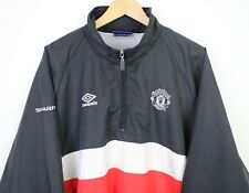 a5949726fa Manchester United Vintage 90s Training Coat Hood Umbro Football Soccer - XL