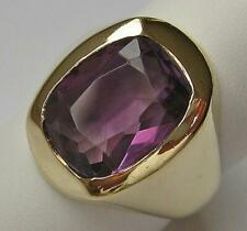 Ring mit Amethyst Amethystring in 14 Kt. 585 Gold Finger Damen Ringe Gr. 55