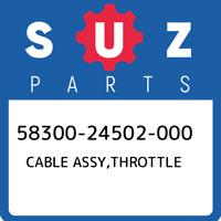 58300-24502-000 Suzuki Cable assy,throttle 5830024502000, New Genuine OEM Part