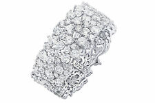 CRISLU CLUSTER ETERNITY BAND STERLING SILVER PLATINUM CZ -NEW IN BOX-4.39CT-8