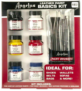 Angelus Brand Leather Paints Basic Starter Kit - Different Colors