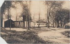 Minnesota Mn Real Photo RPPC Postcard pre1918 PELICAN RAPIDS Oak Lodge KINNEY Pr