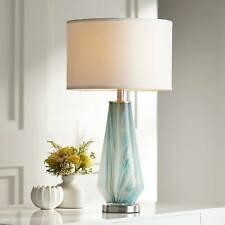 Possini Euro Jaime Blue and Gray Art Glass Table Lamp