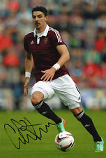 Callum Paterson, Heart of Midlothian, Hearts, signed 12x8 inch photo. COA.