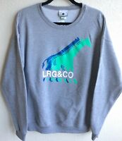 NEW Lifted Research Group LRG mens Large Sweater Giraffe Turquoise Blue Gray