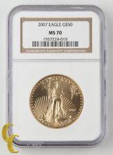 Monedas de oro NGC MS 70