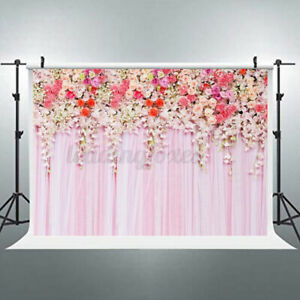 Rose Photography Backdrops Rose Wedding Birthday Photo Background Props Pink ♡
