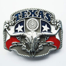 BRAND NEW TEXAS STATE COWBOY FLAG RODEO  BELT BUCKLE