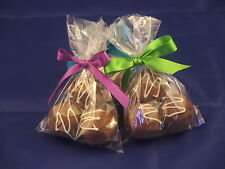 "20 clear cellophane cookie / favour / food bags 6"" x 4"""