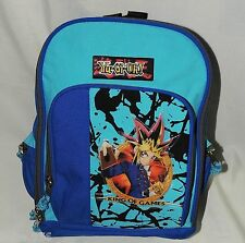 """YU-GI-OH ! SMALL  CANVAS & VYNIL  BACKPACK  BLUE    12"""" X 10"""" ACCESORY NETWORK"""