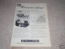 Shure V15 Type IV Ad, 1978, specs, graph, article