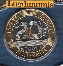 BU 2001 20 Francs Mont Saint Michel 2001 BU FDC Pièce Provenant du BU 125000 ex