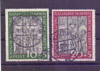 Bund 1951 - Marienkirche - MiNr. 139/140 rund gestempelt - Michel 160,00 € (405)