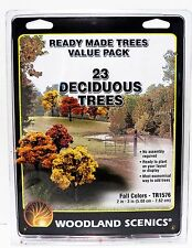 "Woodland Scenics TR1576 Ready Made Trees 2"" - 3"" Value Pack Fall Colors (23) pcs"