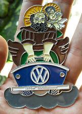 Vintage VW Volkswagen Saint Christopher Dash Plaque Grill Badge Automobilia 1974
