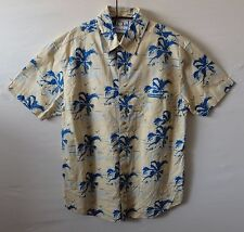 "OCEAN PACIFIC palm tree Hawaiian shirt UK M US S Chest 42"" 107 cm  H890"