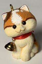 Calico Cat Ornament Small Brown Kitten Christmas Tree Decor Hallmark Vtg 1982