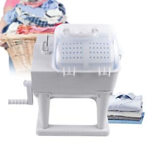 Hand Crank Mini Washing Machine Roller Manual Washer Spin Dryer Household