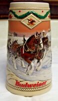 "1996 Anheuser Busch Budweiser Clydesdales Holiday Stein ""American Homestead"""