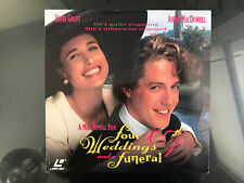 Four Weddings And A Funeral Laserdisc LD Movie 1994 Widescreen Hugh Grant