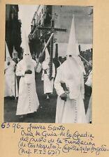 SÉVILLE - 1 Photo Défilé Confrérie Juives Santa Cruz de Quia Espagne - Pl 1239
