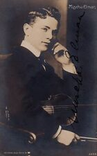 MISCHA ELMAN Violinist autographed youthful photo