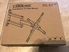 """CATALYST Full Motion Tilt-Swivel TV Wall Mount For 12"""" to 27"""" TVs NEW factory se"""