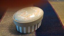 Portagioie bomboniera scatola ovale in ceramica e tessuto