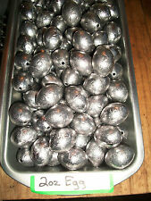 lot of 100 - 2 oz egg slip sinkers / fishing weights / FREE SHIPPING