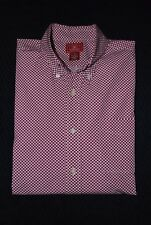 NWOT HANDSOME & UNIQUE LUCKY BRAND MEN'S CASUAL CHECKERED SHIRT SIZE XL PINK RED