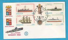 ITALIA BUSTA FILAGRANO 1979 NAVI MARINA MILITARE COSTRUZIONI NAVALI FDC PADOVA