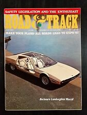 Road & Track July 1967 - Alfa Romeo GTV - Bugatti Type 50T - Lamborghini Marzal