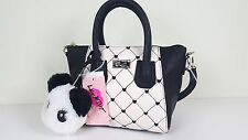 NWT LUV BETSEY BY B JOHNSON WOMEN PANDA QUILTED DOME MINI SATCHELCROSSBODY BAG