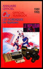 1989-90 QUEBEC NORDIQUES YEARBOOK MEDIA GUIDE WITH JOE SAKIC RC YEAR GUY LAFLEUR